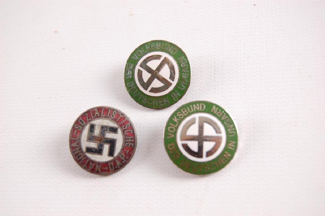 Group of 3 WW2 German Workers Party Pinbacks - 2