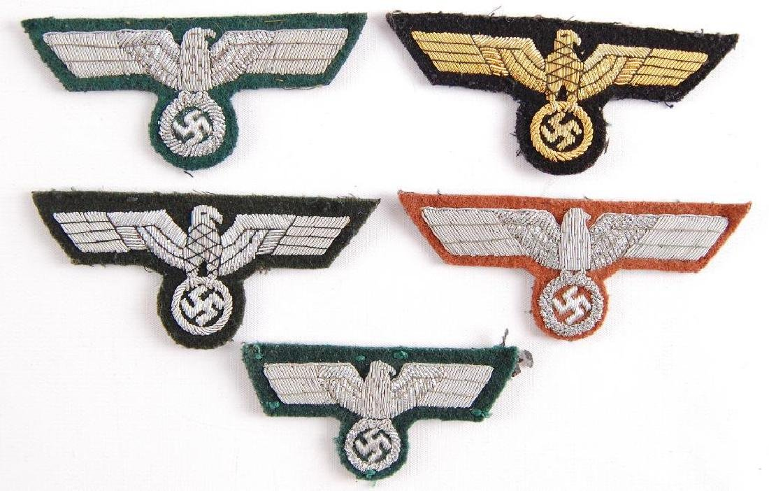 Group of 5 German Style Breast Eagles