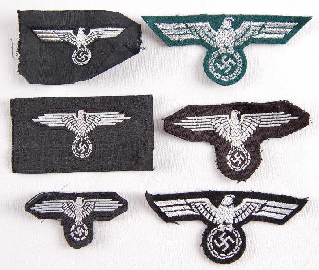 Group of 6 German Style Sleeve Eagles