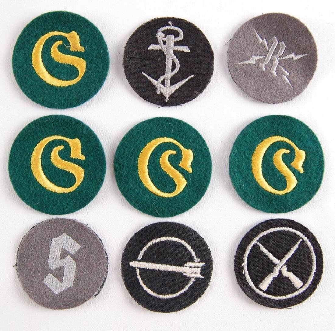 Group of 9 German Style Sleeve Patches