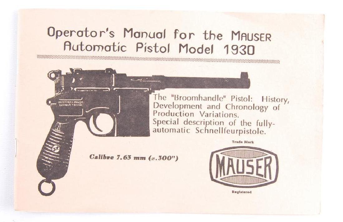 1996 Operator's Manual for the Mauser Automatic Pistol