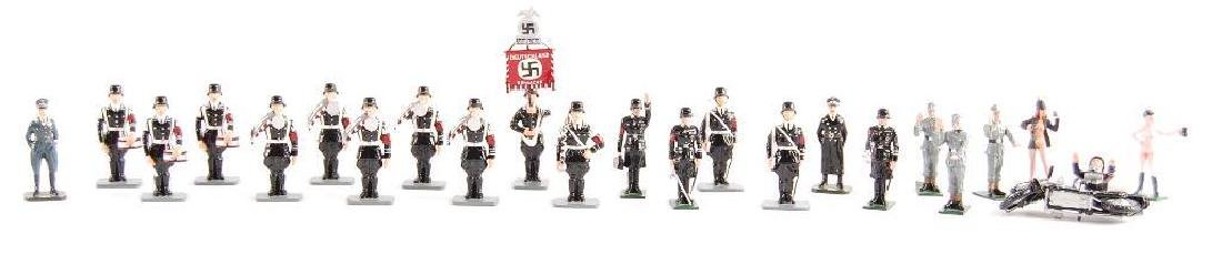 Group of 24 K&C German SS Tin Soldiers