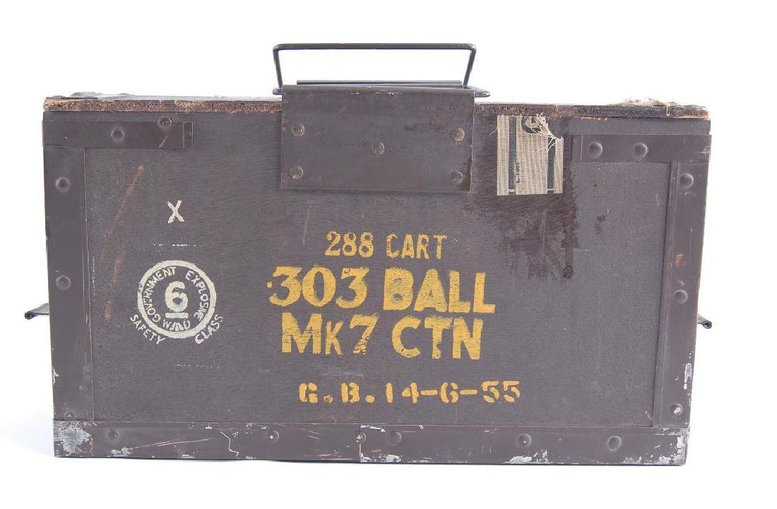 .303 Ball Mk7 Ctn Ammo Box with Clips and Casings