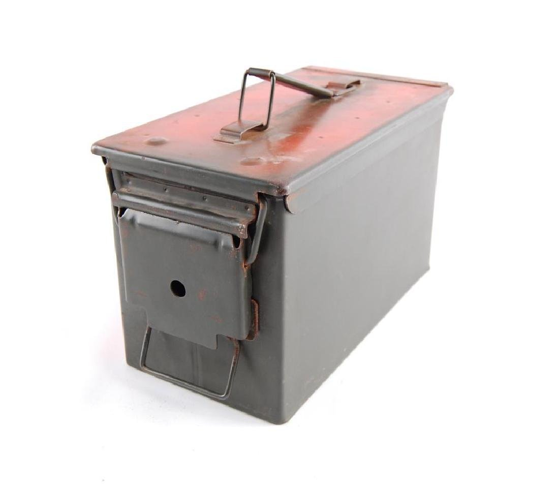 U.S. Military Ammo Box with Ammunition and Clips