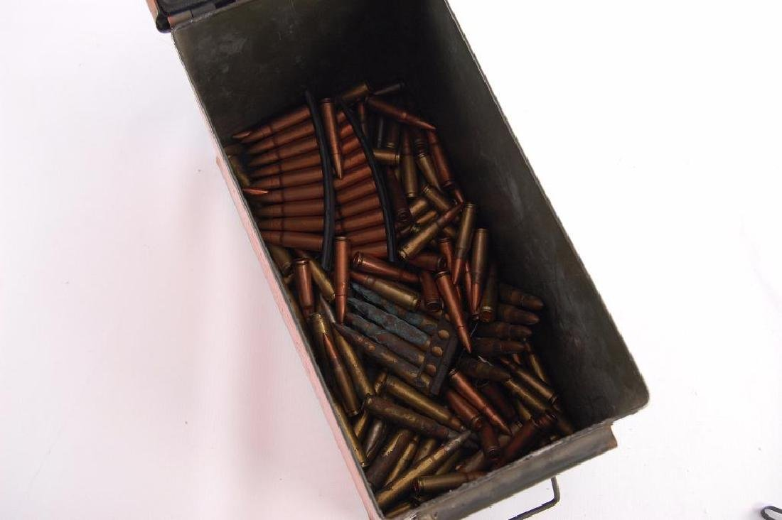 U.S. Military Ammo Box with Ammunition and Clips - 3