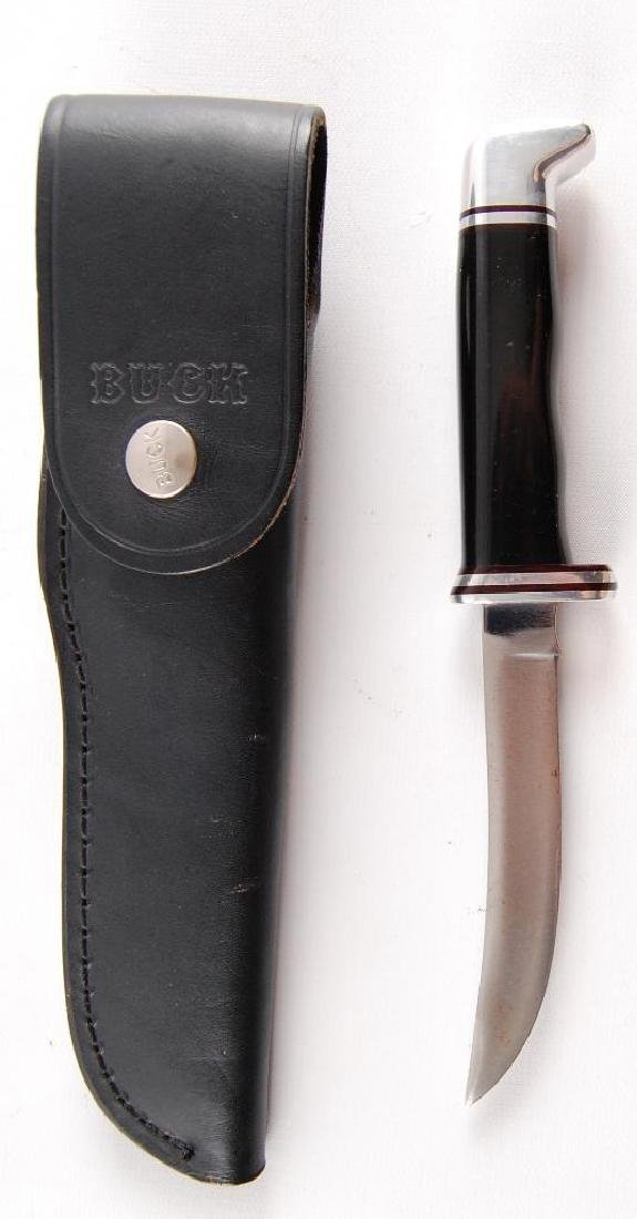 Buck 118 Fixed Knife with Leather Sheath - 3