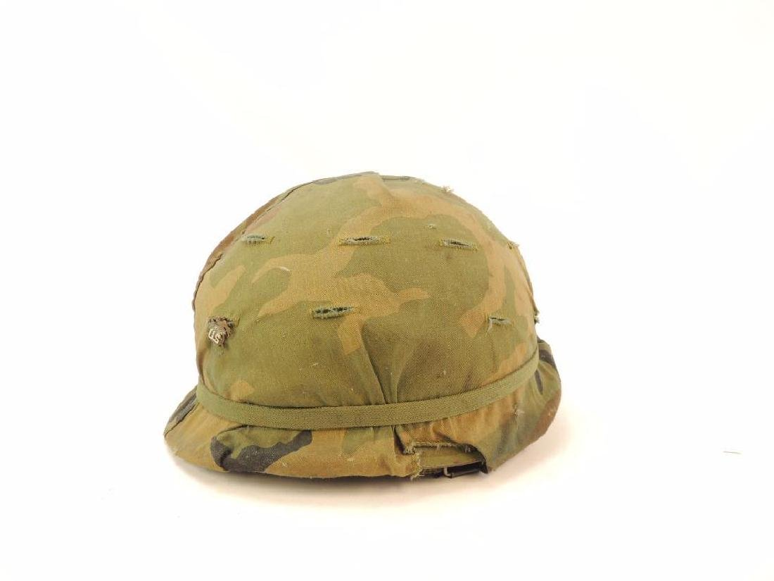 U.S. Army Helmet with Cloth Camo Cover and Liner - 3