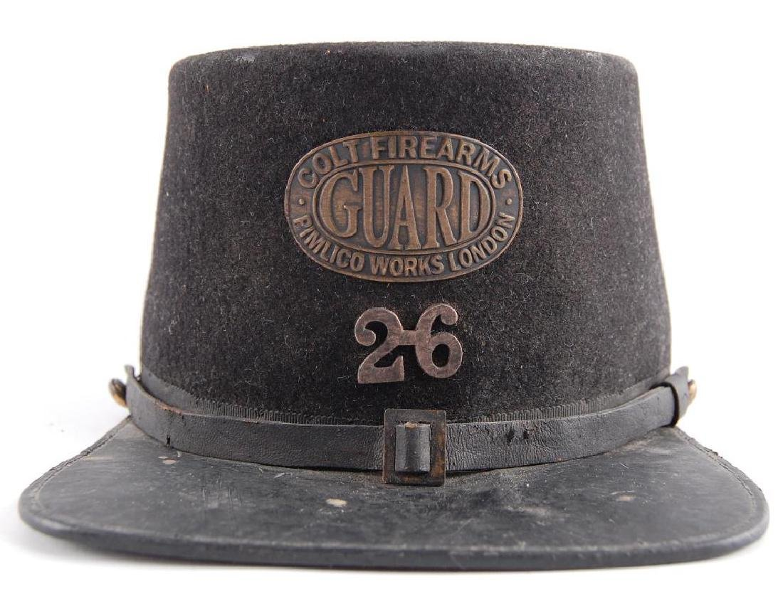 Antique Colt Firearms Guard Cap with Badge and Number