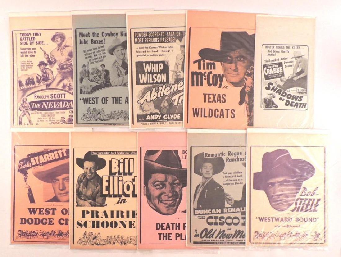 Group of 10 Vintage Western Movie Advertisments