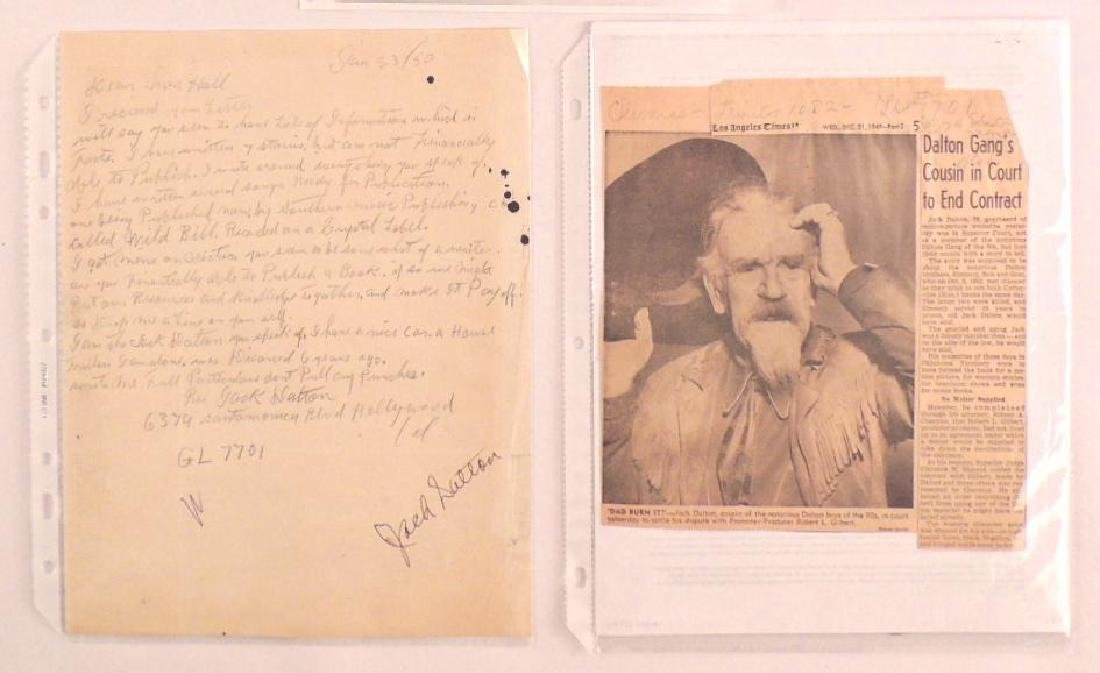 Antique Letter Hand Written and Signed by Jack Dalton