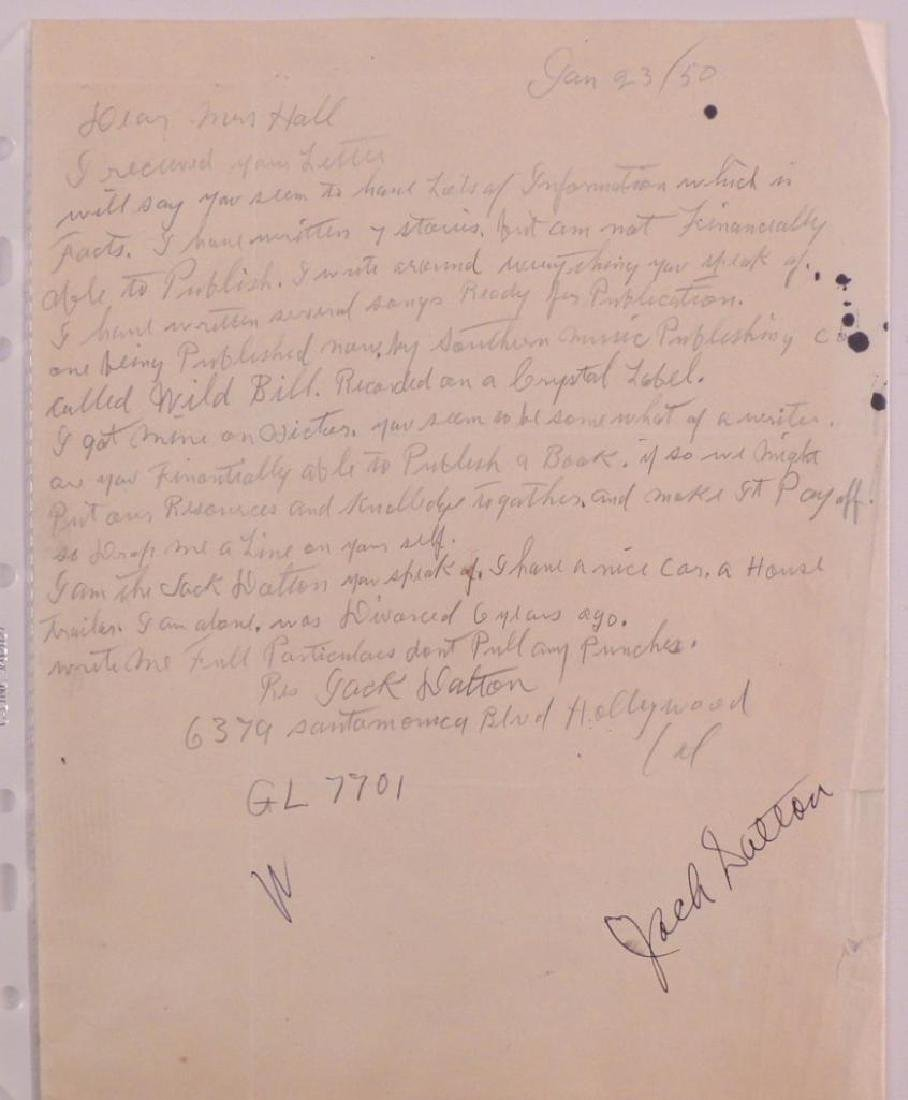 Antique Letter Hand Written and Signed by Jack Dalton - 2