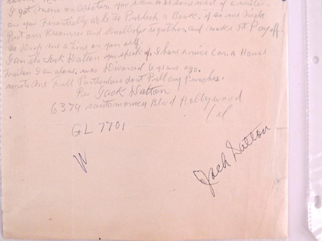 Antique Letter Hand Written and Signed by Jack Dalton - 3