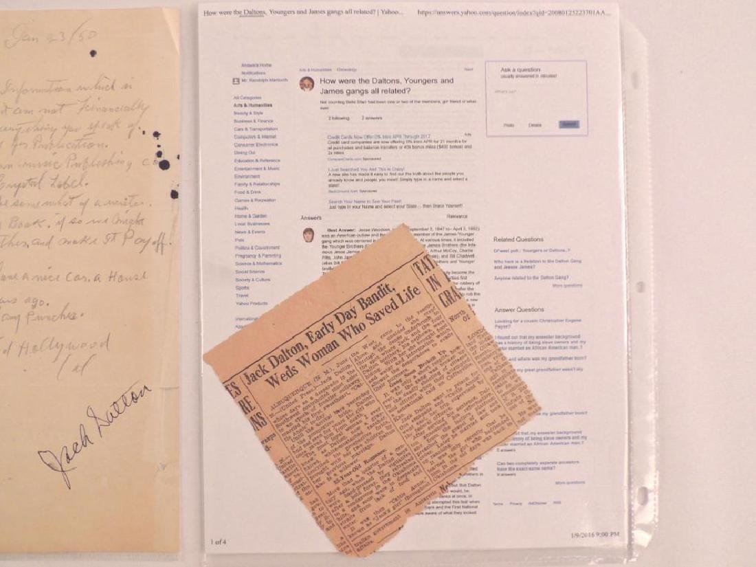 Antique Letter Hand Written and Signed by Jack Dalton - 5