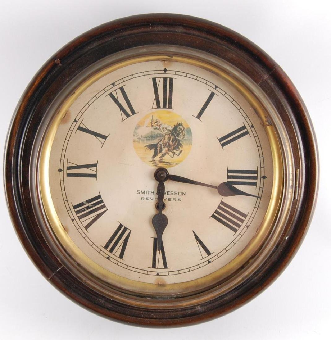 Antique Smith and Wesson Revolvers Advertising Clock