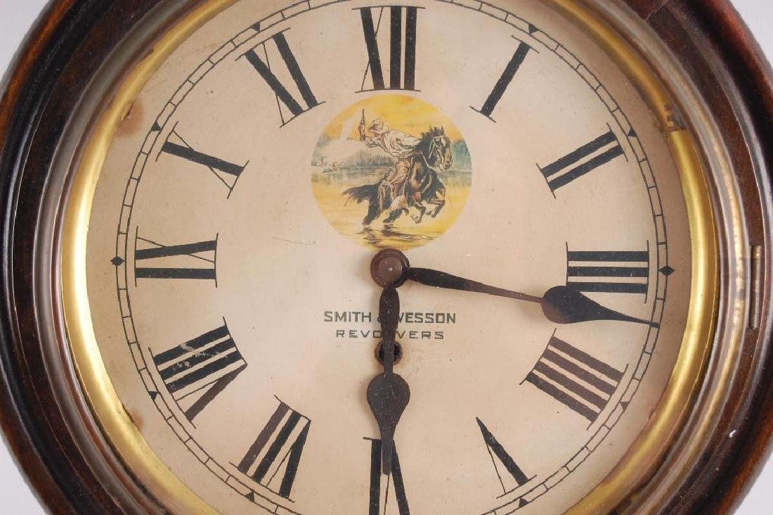 Antique Smith and Wesson Revolvers Advertising Clock - 2