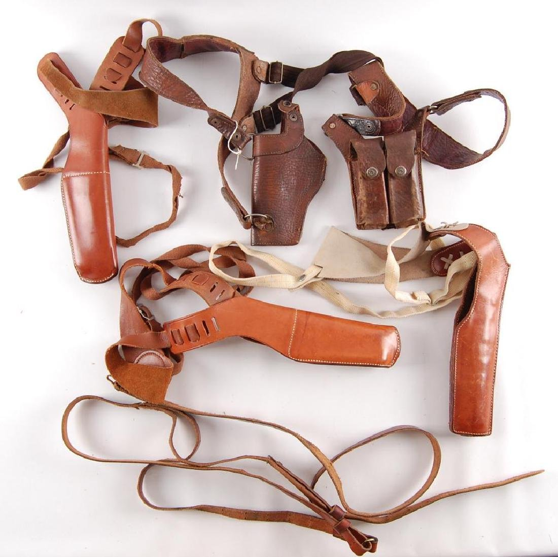 Group of Leather Shoulder Holsters