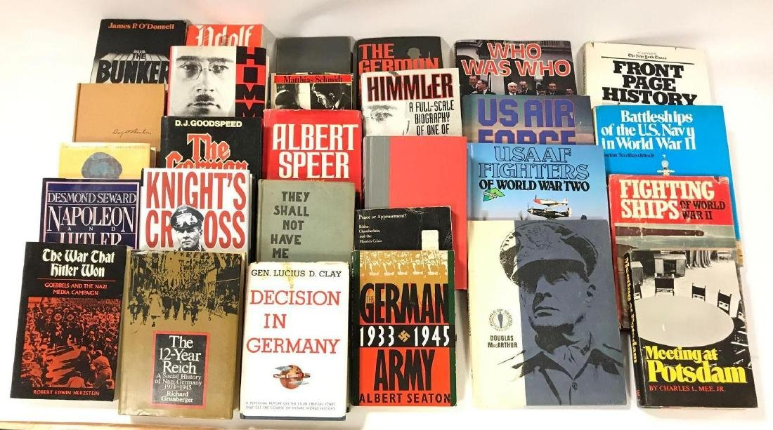 Group of 28 Hardcover and Paperback WW2 German History