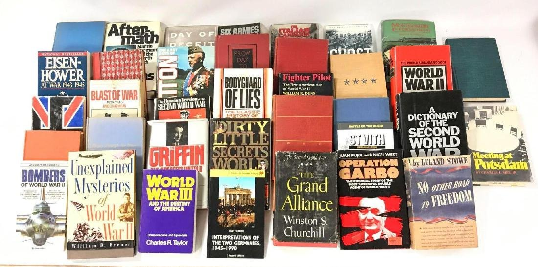 Group of 30 Hardcover and Paperback WW2 History Books