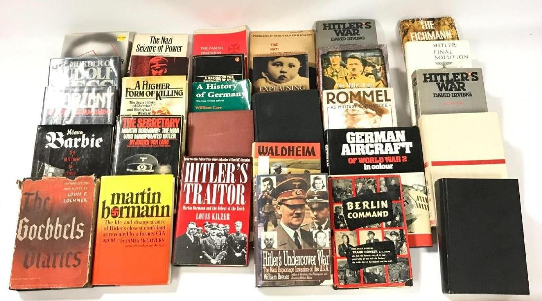 Group of 30 Hardcover and Paperback WW2 German History