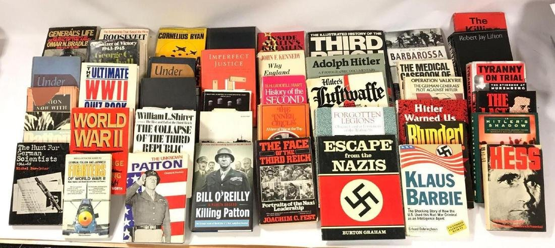 Group of 43 Hardcover and Paperback WW2 History Books