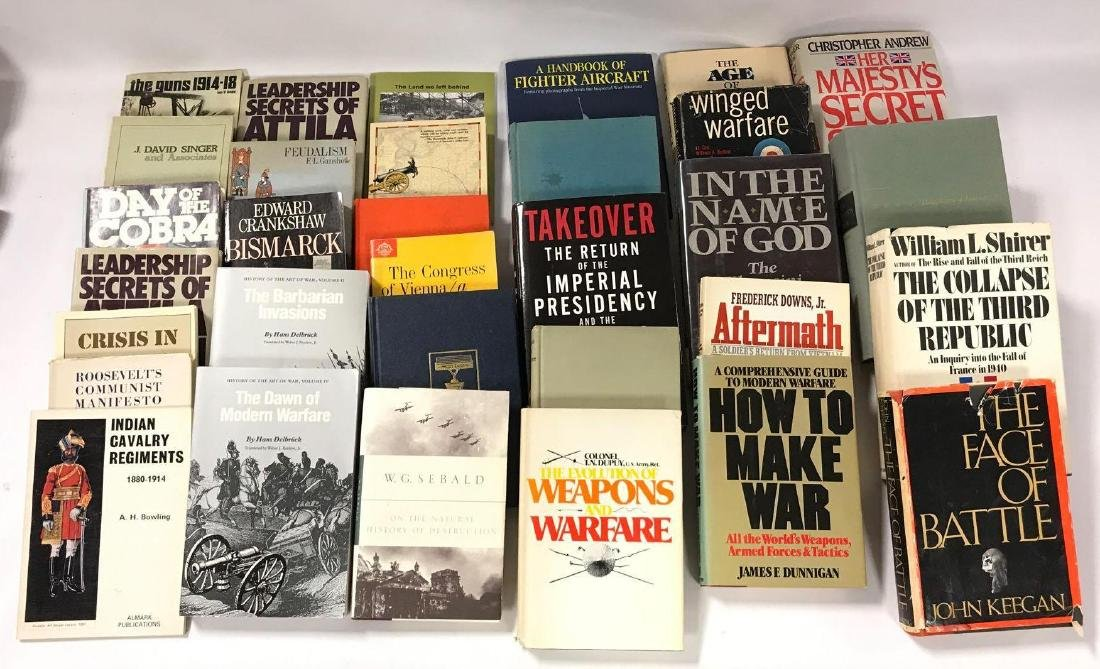 Group of 32 Hardcover and Paperback Military History