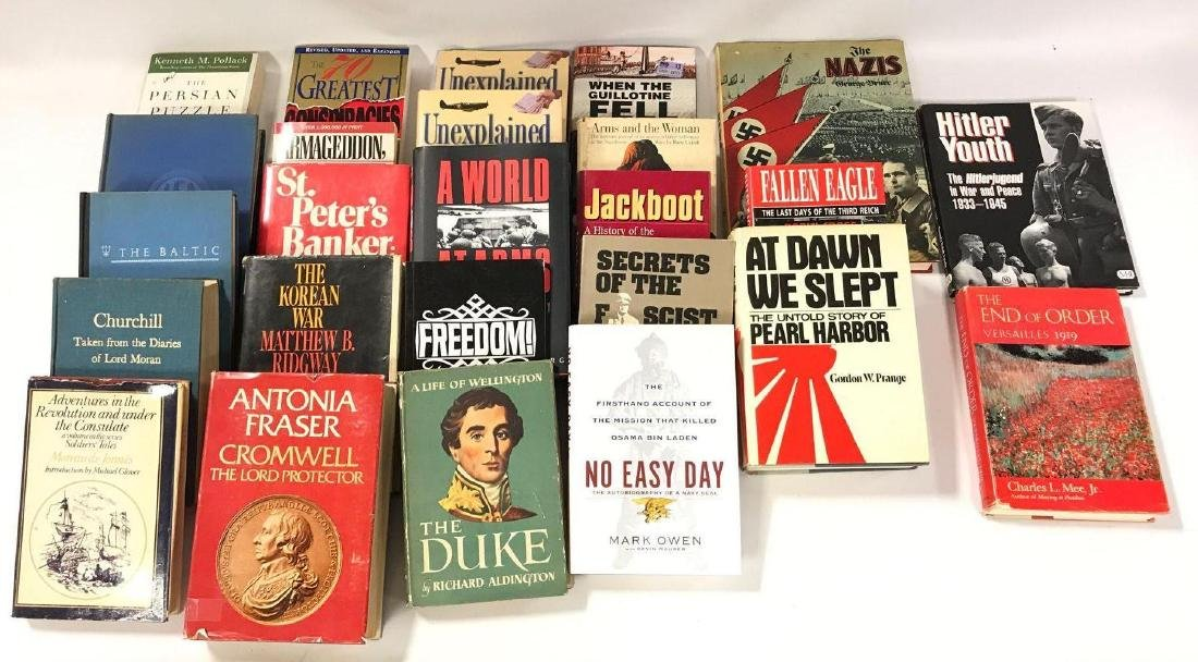 Group of 25 Hardecover and Paperback WW2 and Other