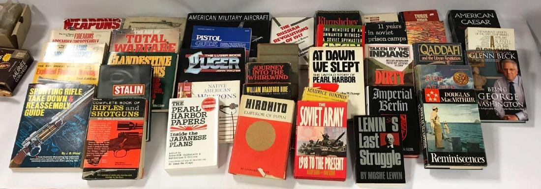 Group of 40 Hardcover and Paperback History, Firearm,