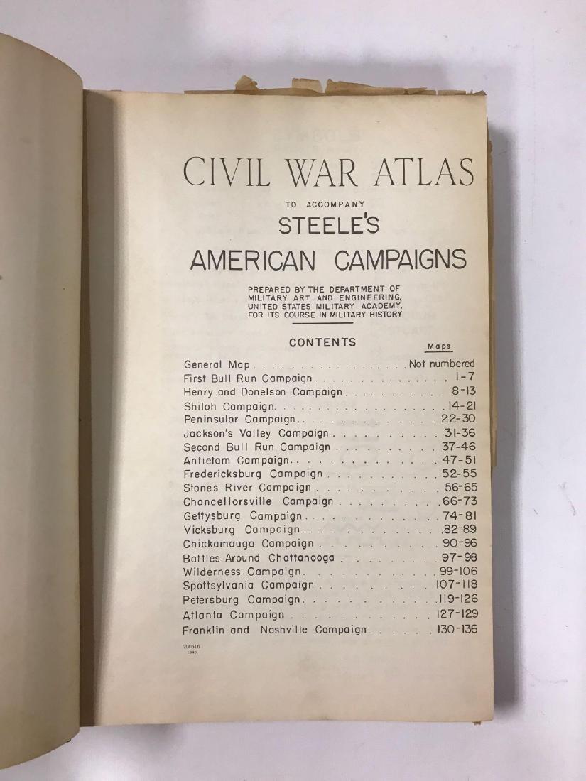 Civil War Atlas Book - 2