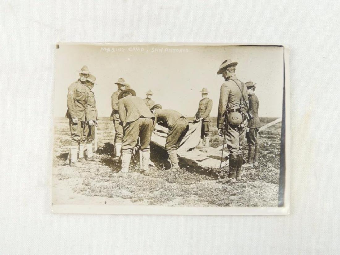 "WW1 Era Photograph Featuring Soldiers ""Making Camp, San"