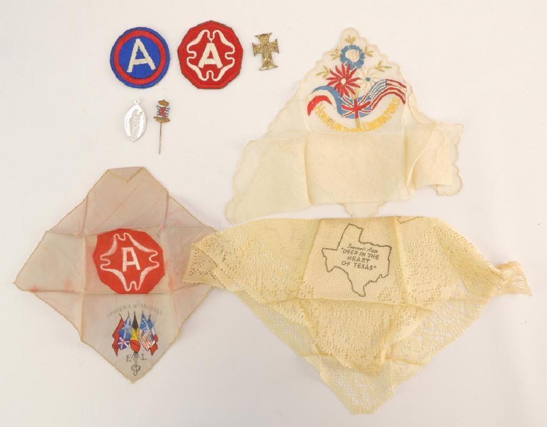 Group of WW2 Mementos Handkerchiefs and More