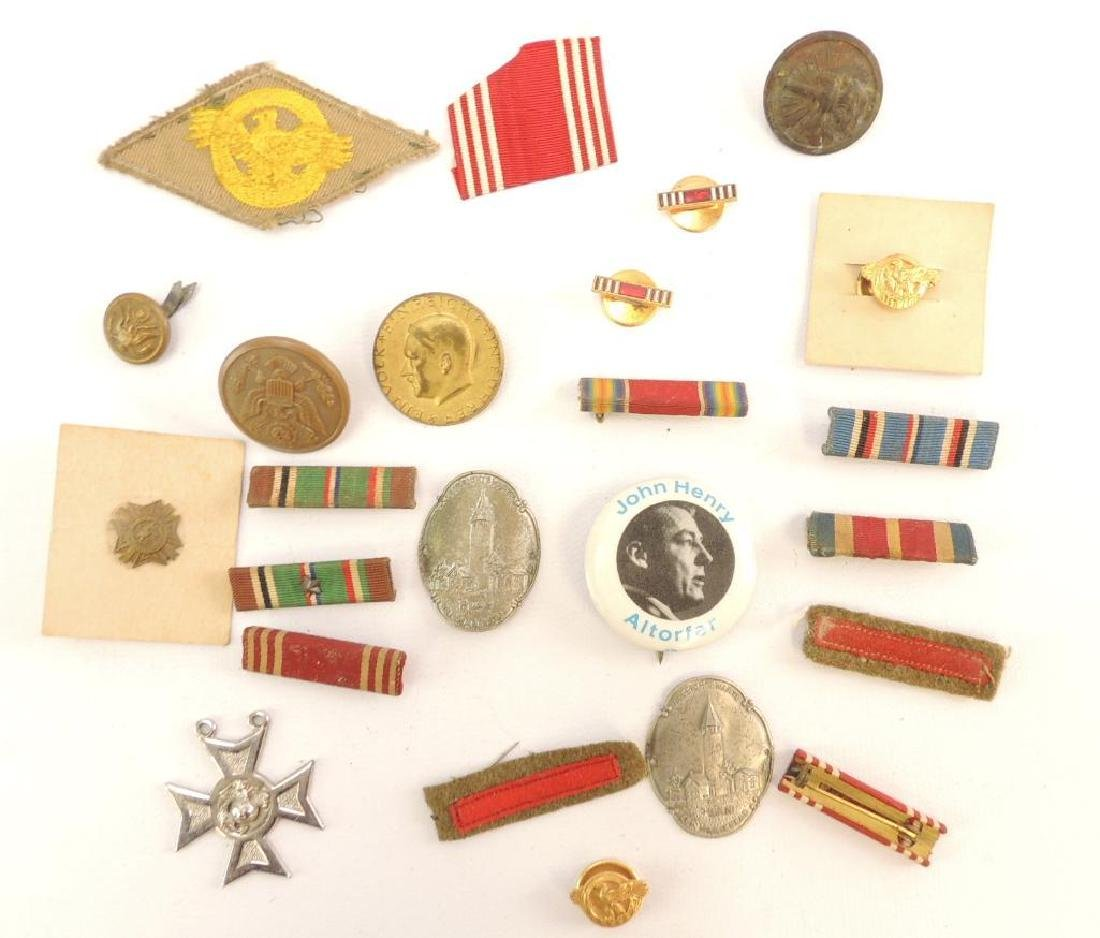 Group of WW2 Bars, Pinbacks, and More