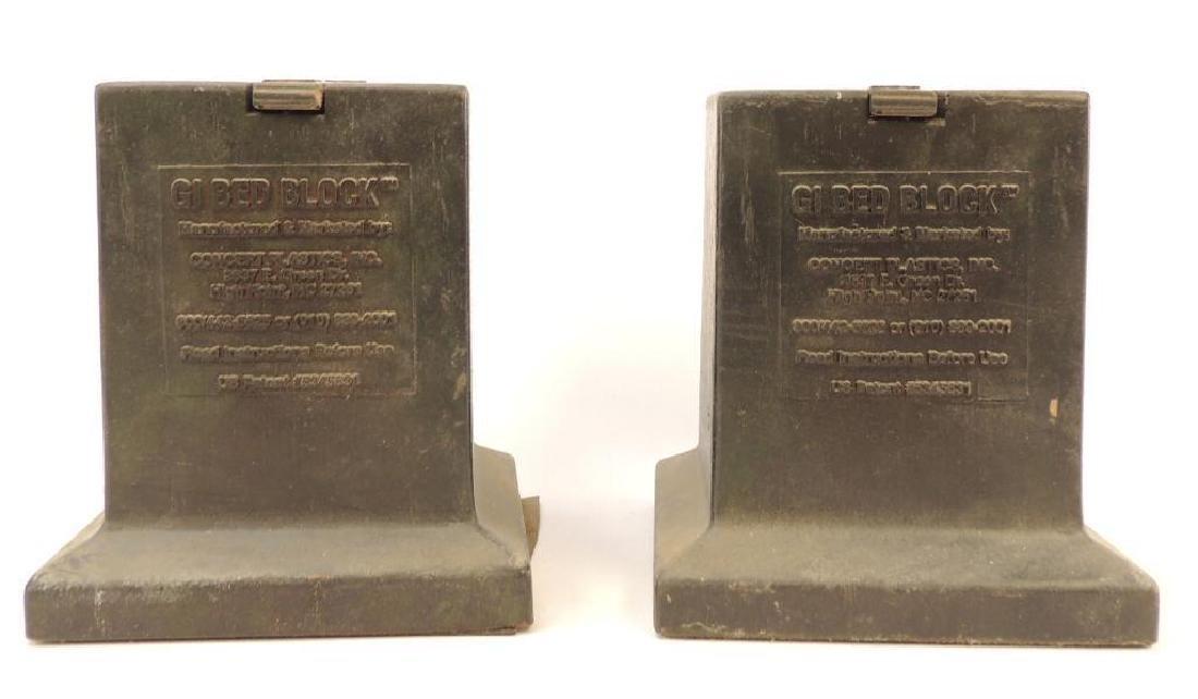 Pair of U.S. GI Bed Blocks