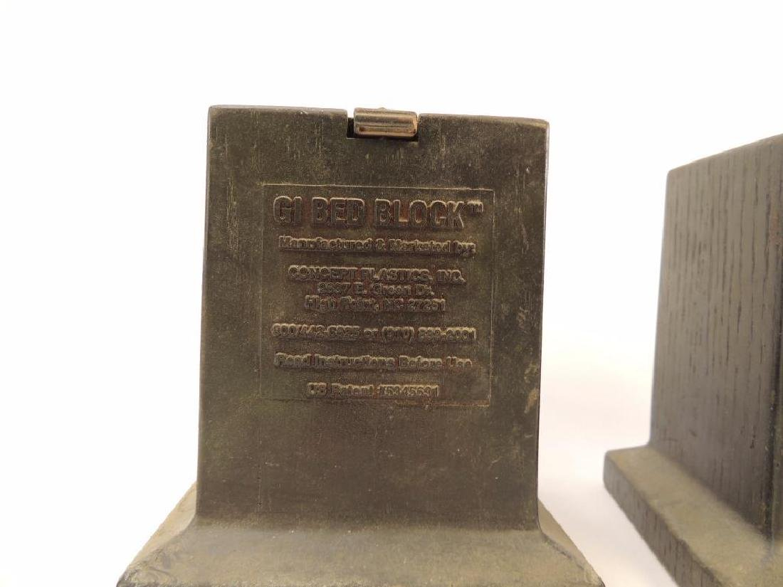 Pair of U.S. GI Bed Blocks - 2