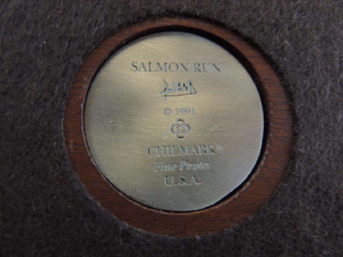 Chilmark Salmon Run by Polland Fine Pewter Statue - 6