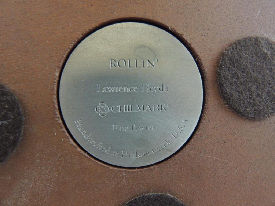 Chilmark Rollin' by L. Heyda Fine Pewter Statue - 5