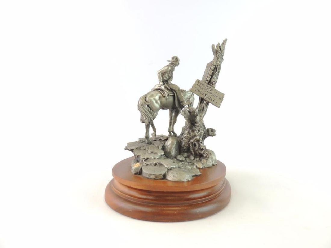 Chilmark Wanted by Polland Fine Pewter Statue - 3