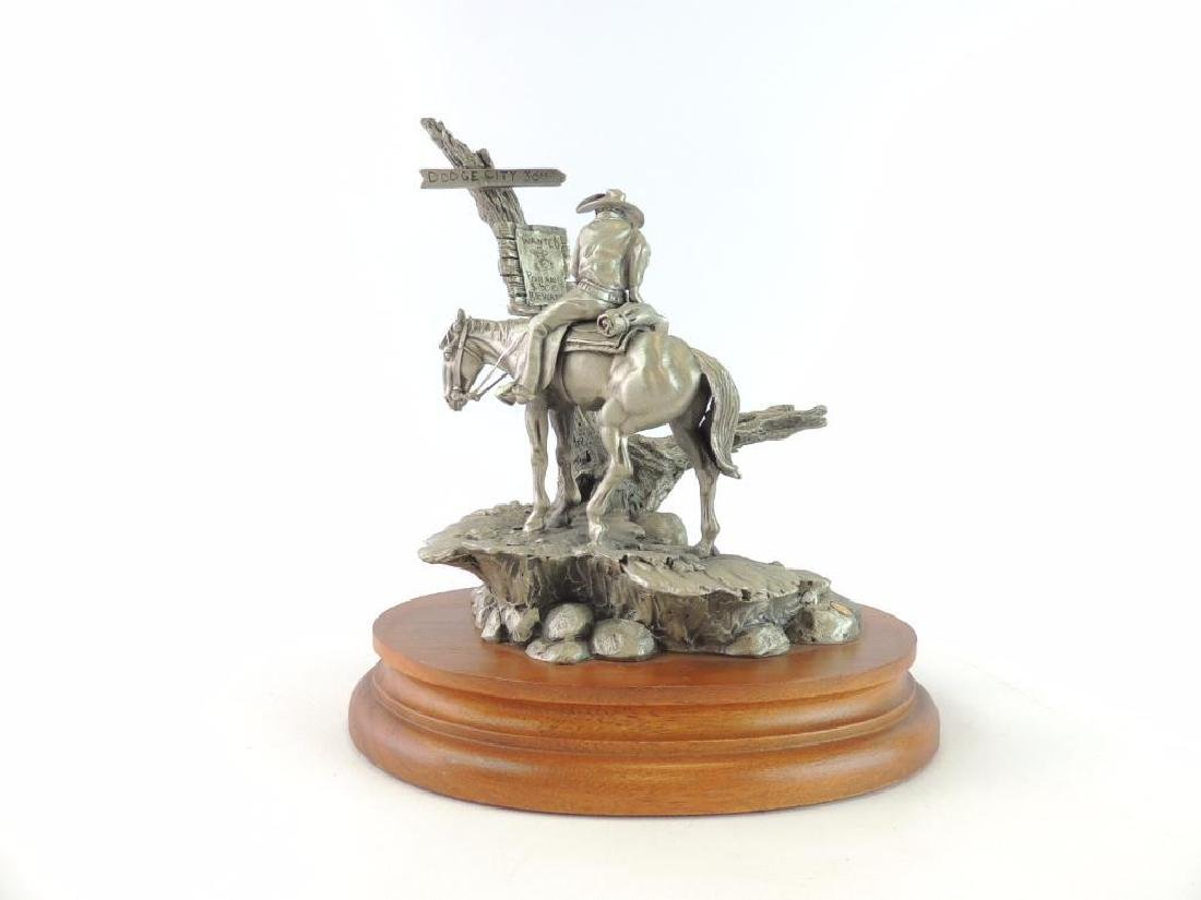 Chilmark Wanted by Polland Fine Pewter Statue - 4