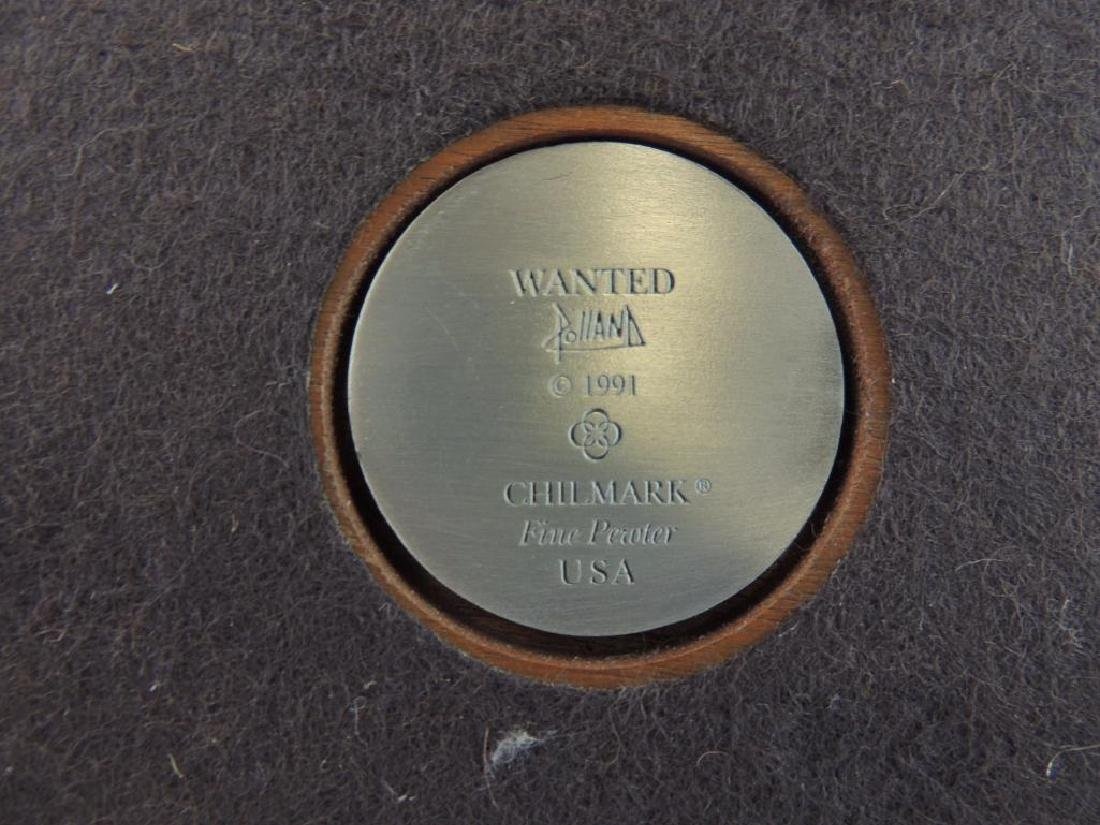 Chilmark Wanted by Polland Fine Pewter Statue - 7