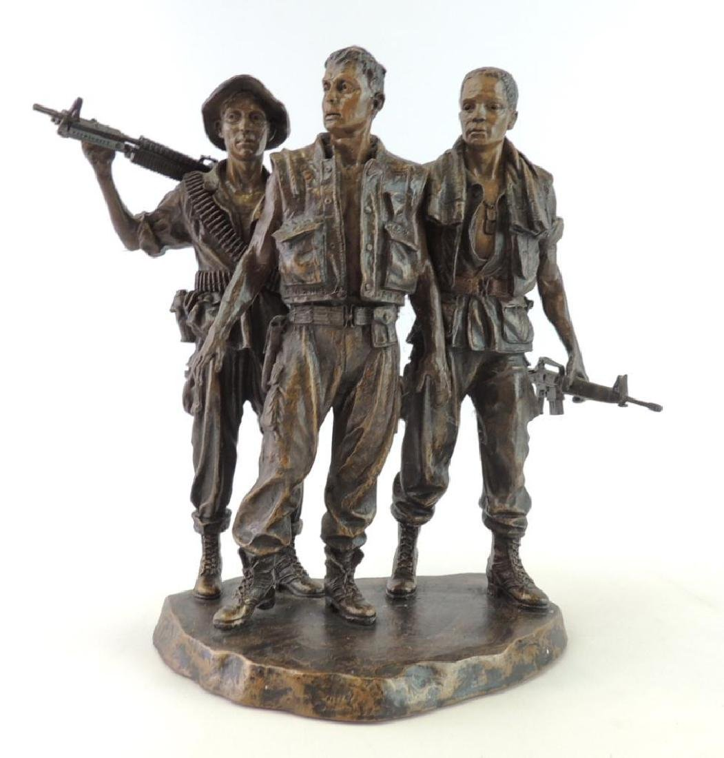 Franklin Mint U.S. Military Troops by F.E. Hart Statue