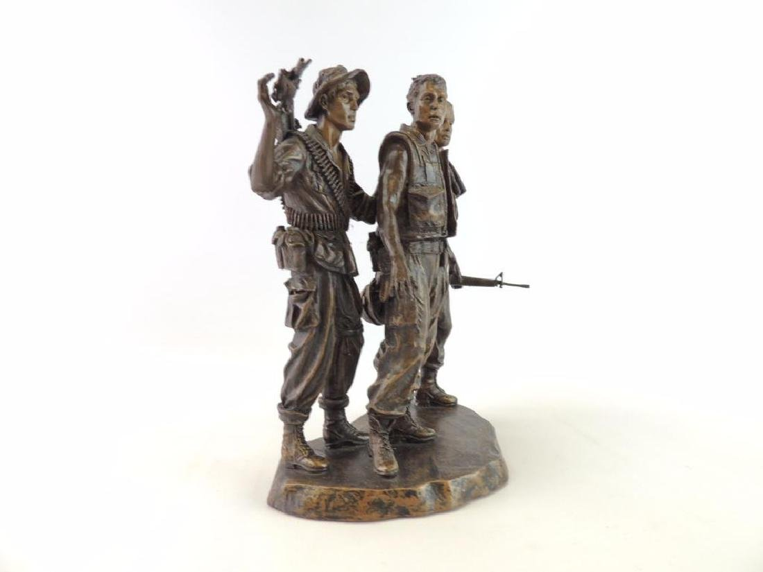 Franklin Mint U.S. Military Troops by F.E. Hart Statue - 2