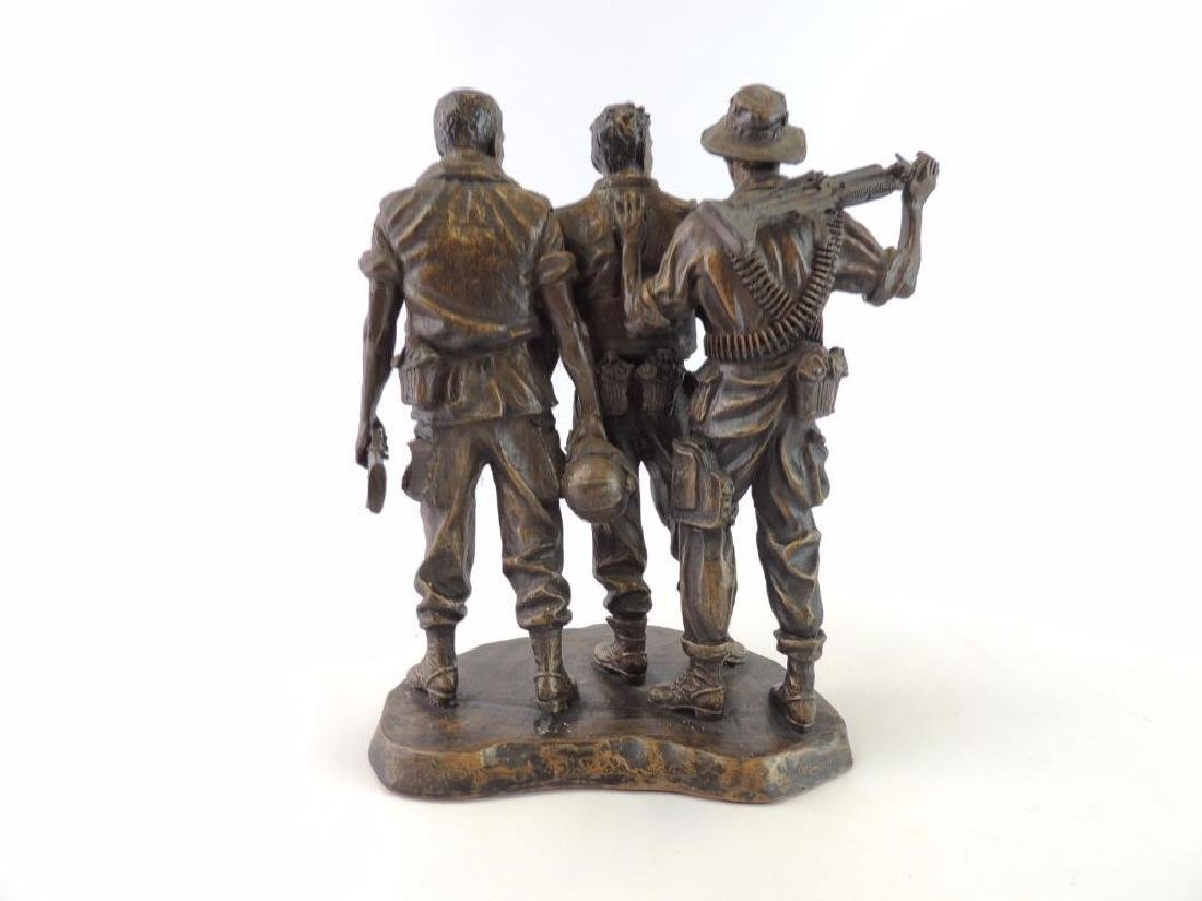 Franklin Mint U.S. Military Troops by F.E. Hart Statue - 3