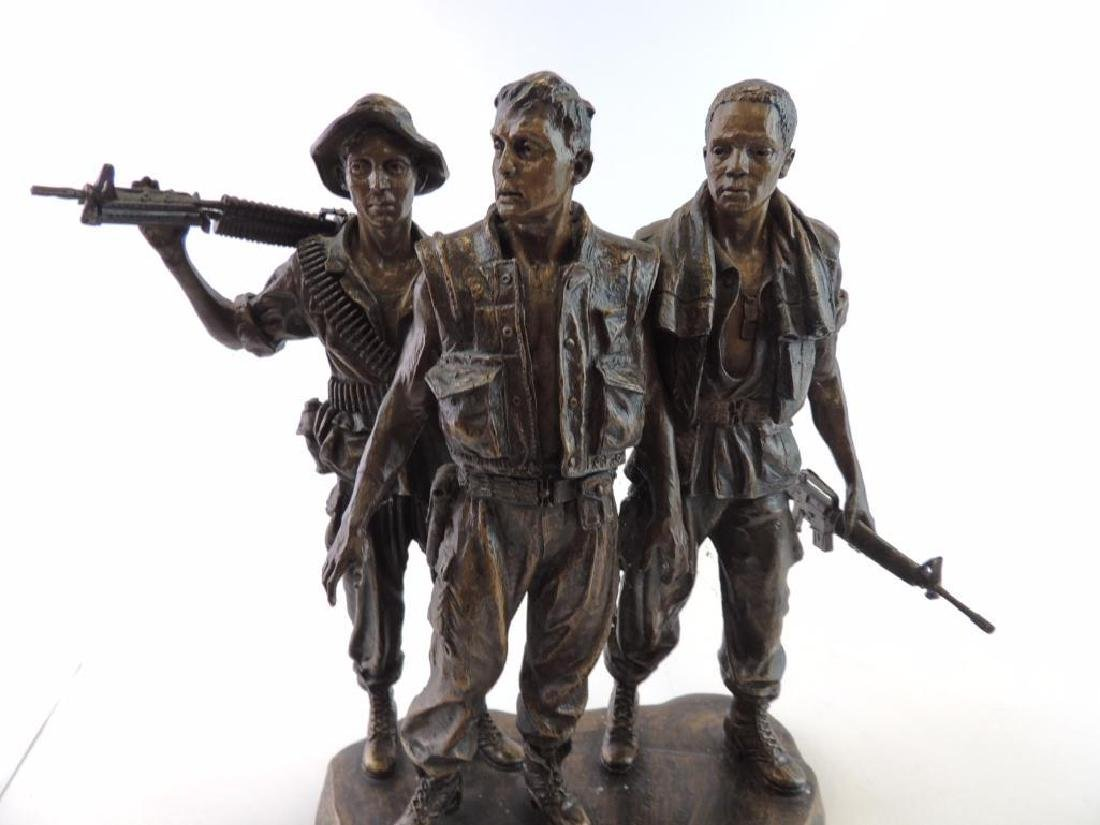 Franklin Mint U.S. Military Troops by F.E. Hart Statue - 5