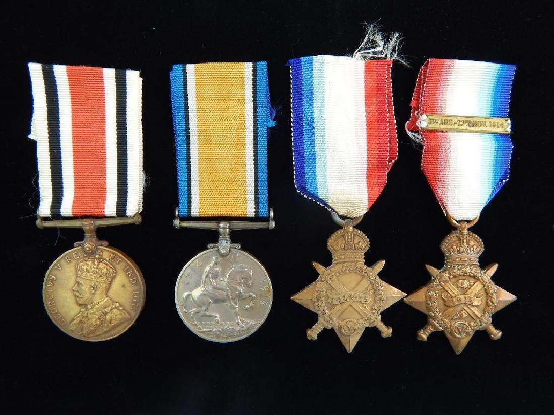 Group of 4 WWI Named British Medals