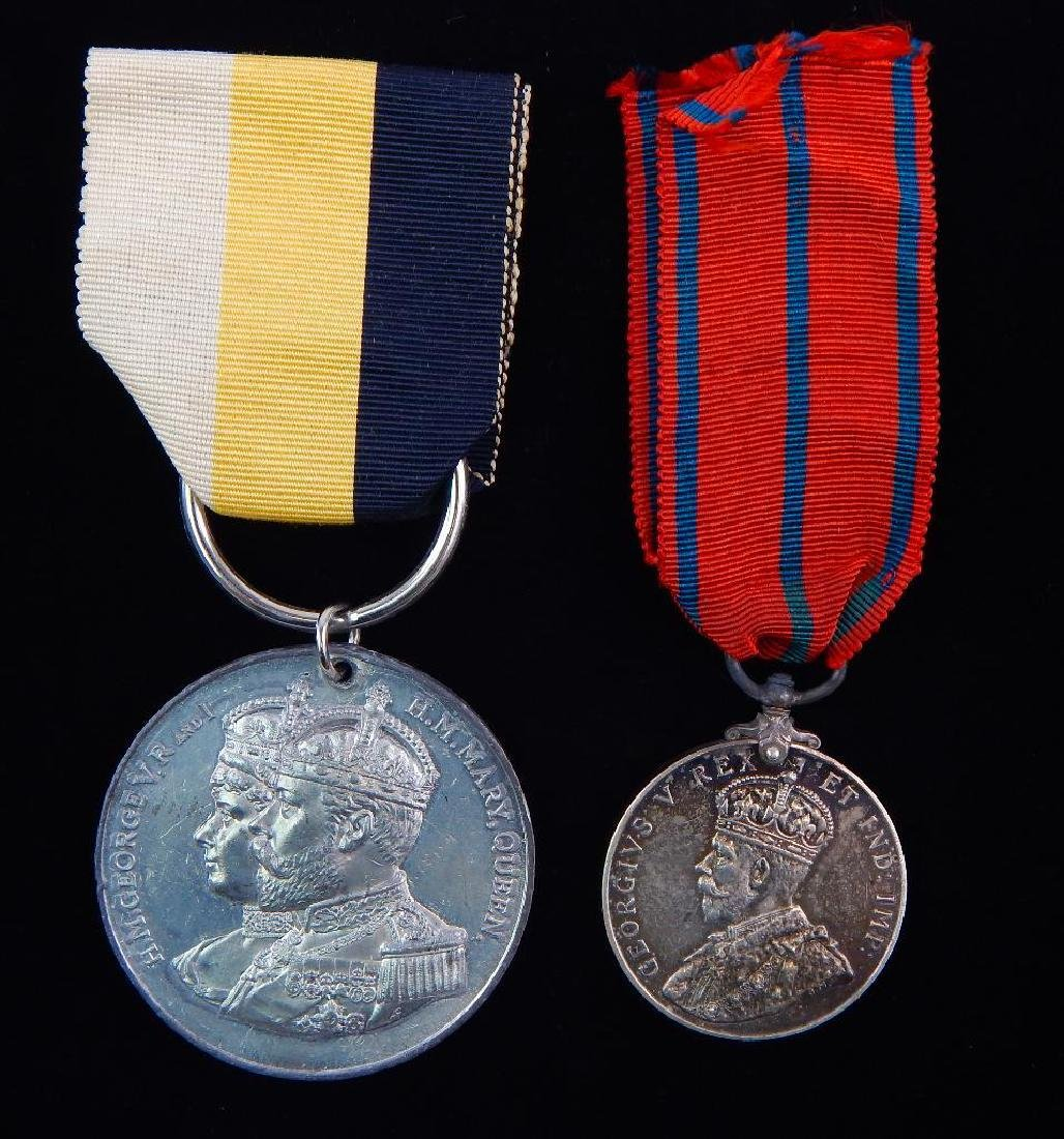 Group of 2 British Coronation Medals for George V