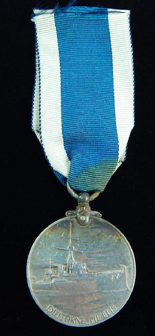 WWI British named Navy Long Service Medal - 2