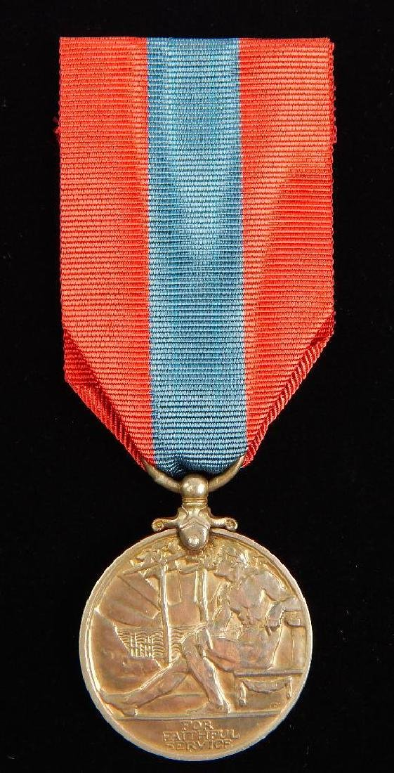 British Named Faithful Service Medal and Other Medal - 6