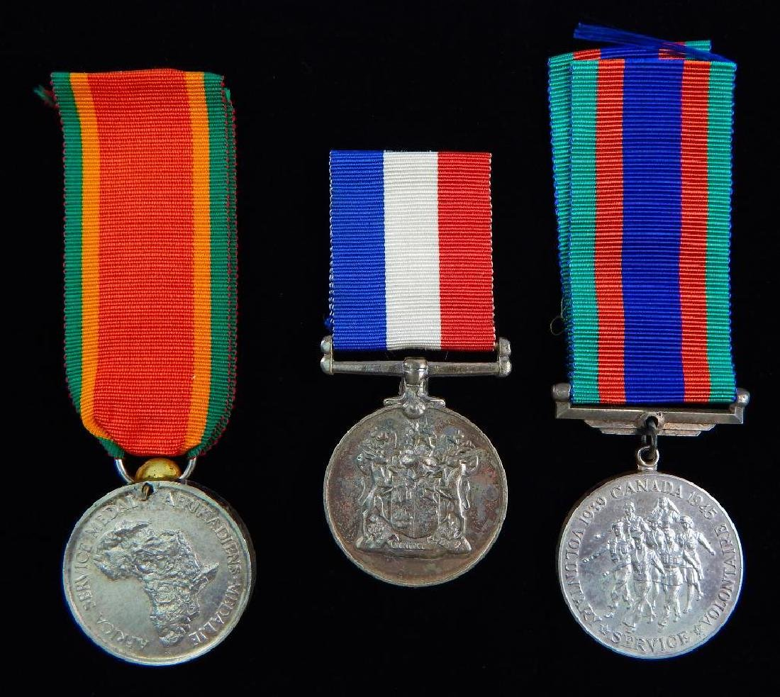 Group of 3 WW2 British Dominion Medals