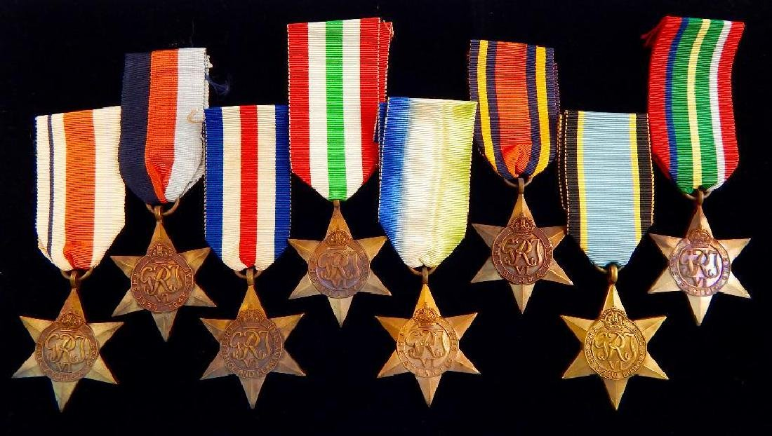 WW2 British Group of War Star Campaign Medals