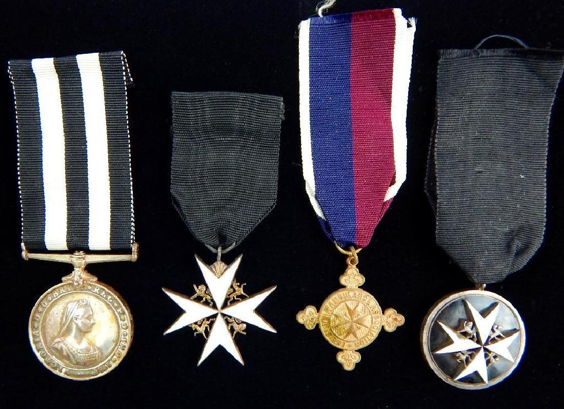 Group of 4 British St. Johns Ambulance Corps Medals
