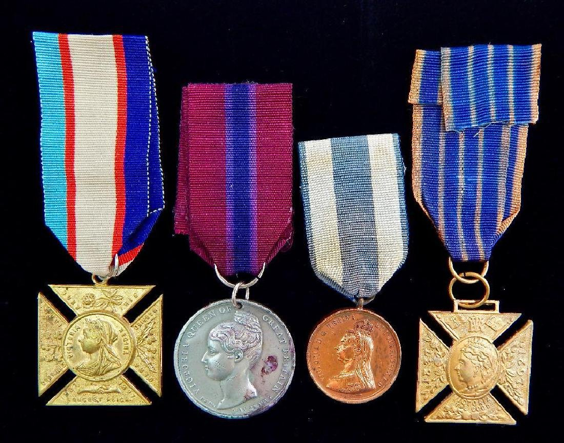Group of 4 Queen Victoria Medals